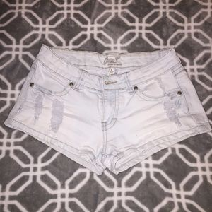 Pants - Jean shorts Distressed Denim